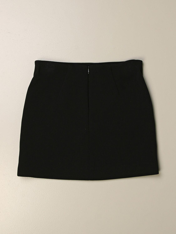Gonna Elisabetta Franchi: Gonna Elisabetta Franchi con logo di frange nero 2