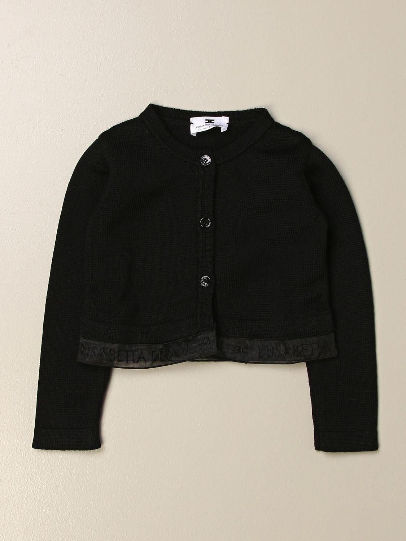 Sweater Elisabetta Franchi: Elisabetta Franchi cardigan with logoed band black 1