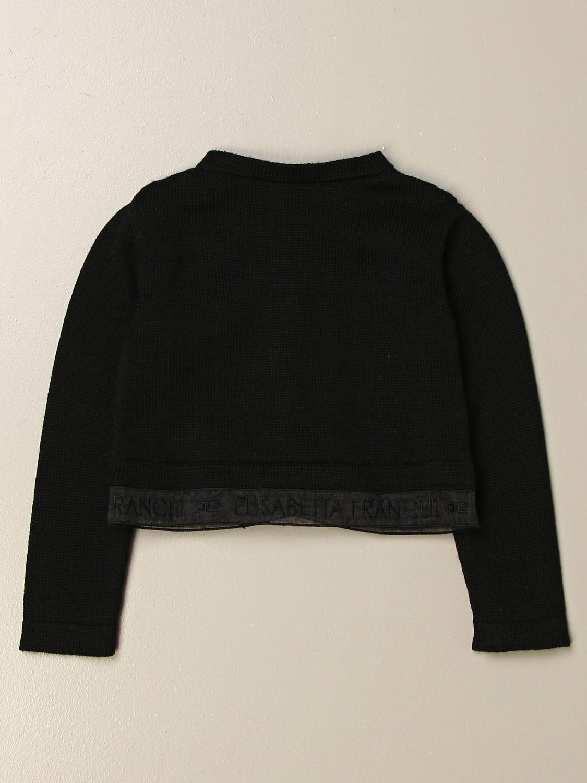 Sweater Elisabetta Franchi: Elisabetta Franchi cardigan with logoed band black 2