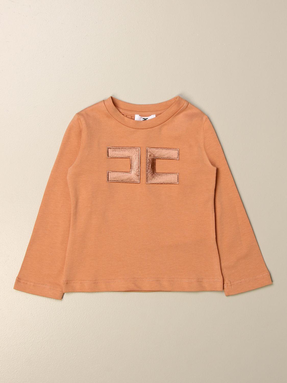 T-shirt Elisabetta Franchi: T-shirt Elisabetta Franchi con logo rosa 1