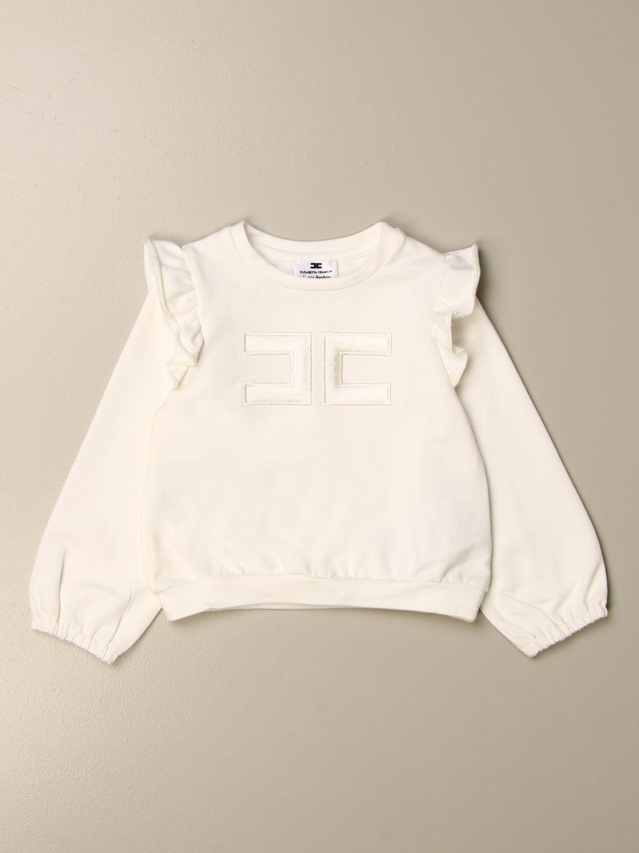 Sweater Elisabetta Franchi: Elisabetta Franchi sweatshirt with logo yellow cream 1