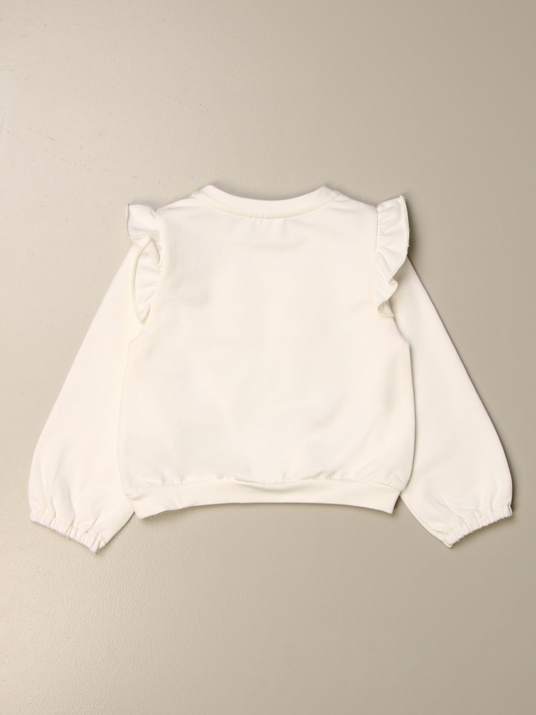 Sweater Elisabetta Franchi: Elisabetta Franchi sweatshirt with logo yellow cream 2