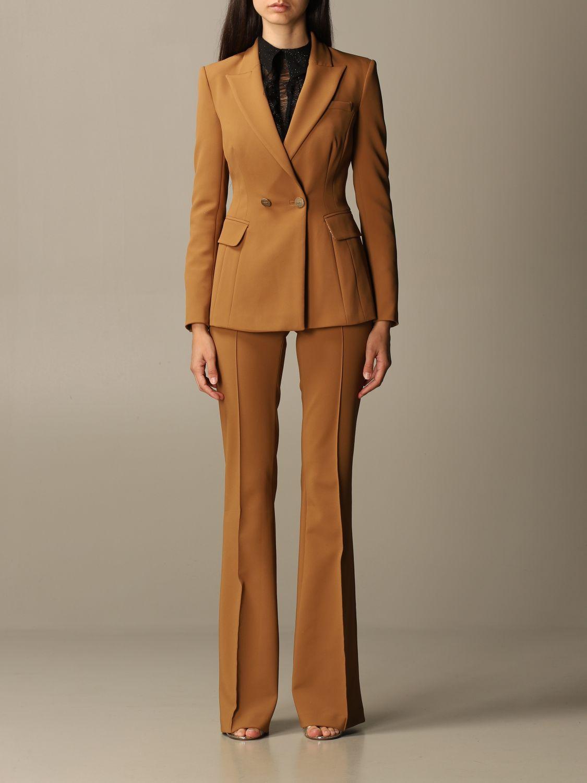 Деловой костюм Elisabetta Franchi: Деловой костюм Женское Elisabetta Franchi желто-коричневый 1