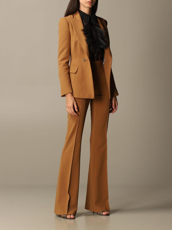 Деловой костюм Elisabetta Franchi: Деловой костюм Женское Elisabetta Franchi желто-коричневый 2