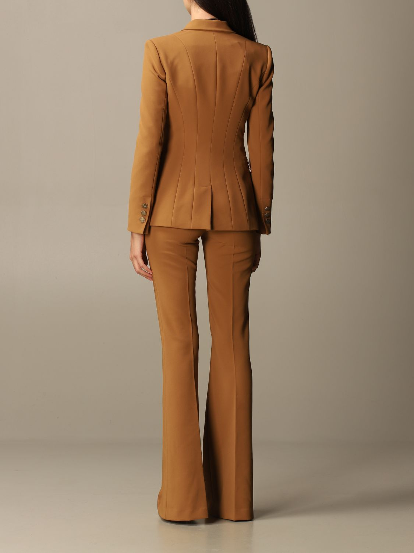 Деловой костюм Elisabetta Franchi: Деловой костюм Женское Elisabetta Franchi желто-коричневый 3