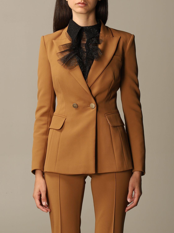 Деловой костюм Elisabetta Franchi: Деловой костюм Женское Elisabetta Franchi желто-коричневый 4