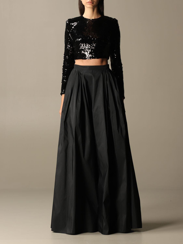 Zweiteiliger Anzug Elisabetta Franchi: Zweiteiliger anzug damen Elisabetta Franchi schwarz 1