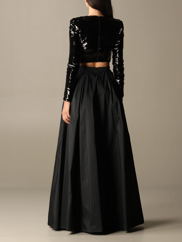 Zweiteiliger Anzug Elisabetta Franchi: Zweiteiliger anzug damen Elisabetta Franchi schwarz 3
