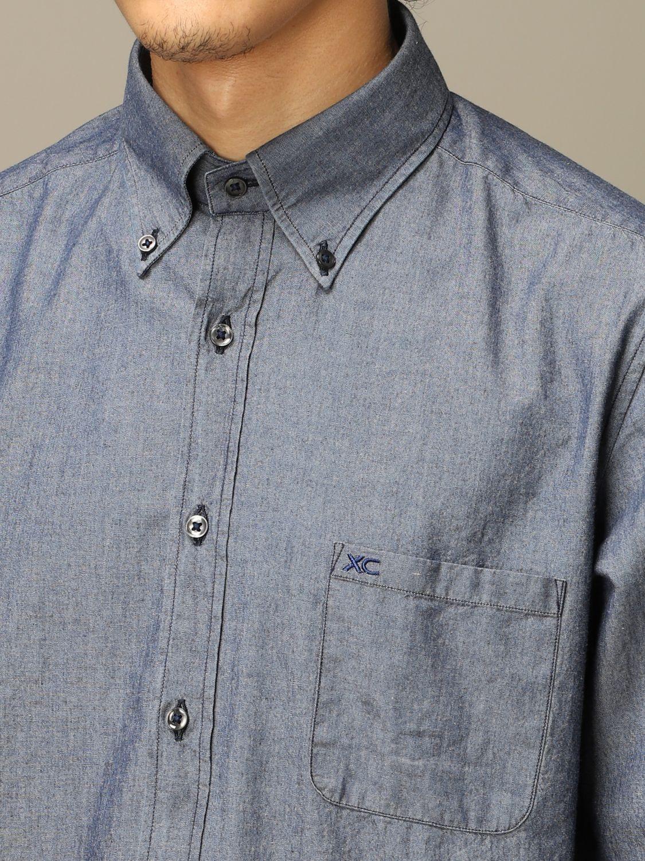 Рубашка Xc: Рубашка Мужское Xc серо-бежевый 3