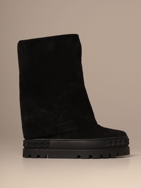 Flat ankle boots Casadei: Shoes women Casadei camel 1