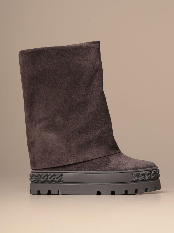 Bottines plates Casadei: Chaussures femme Casadei gris 1