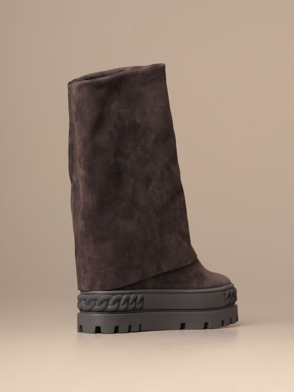 Bottines plates Casadei: Chaussures femme Casadei gris 3