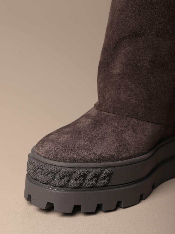 Bottines plates Casadei: Chaussures femme Casadei gris 4