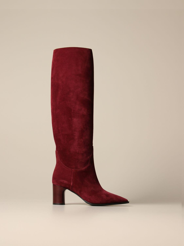 Boots Casadei: Shoes women Casadei burgundy 1
