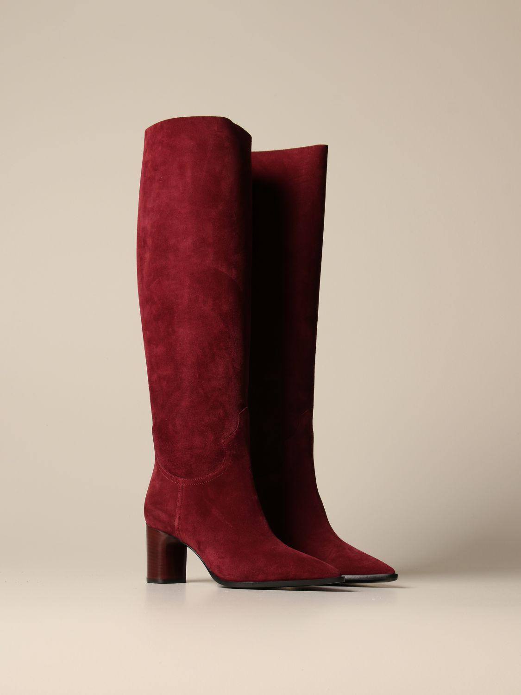 Boots Casadei: Shoes women Casadei burgundy 2