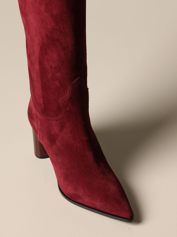 Boots Casadei: Shoes women Casadei burgundy 4