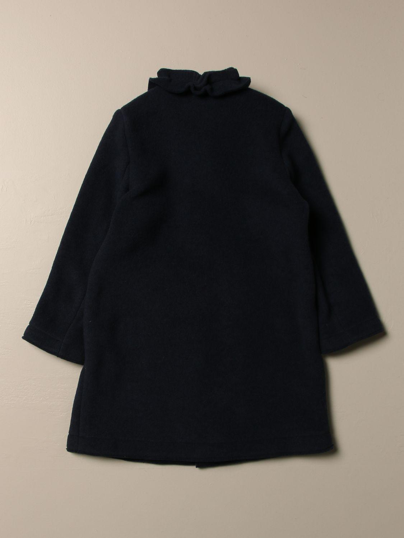 Cappotto Il Gufo: Cappotto Il Gufo in pile con rouches blue 2