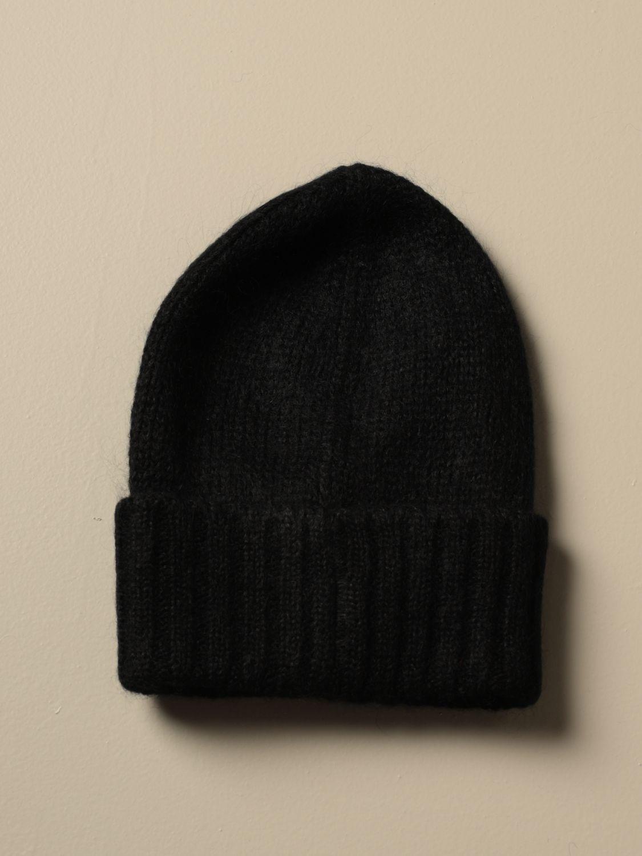 Cappello N° 21: Cappello N°21 in lana con spilla gioiello nero 2