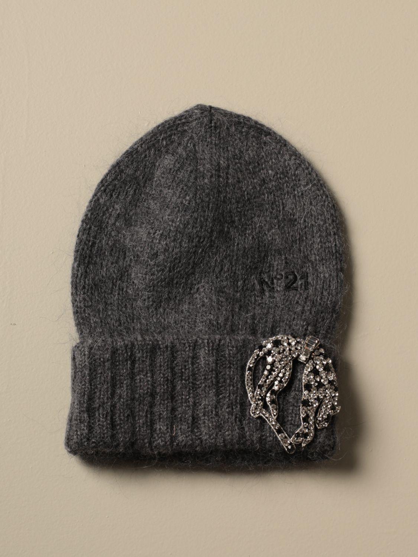 帽子 N° 21: 帽子 女士 N° 21 灰色 1