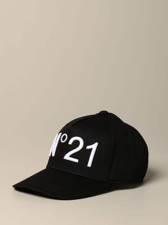 Cappello bambino N° 21: Cappello da baseball N°21 con logo nero 1