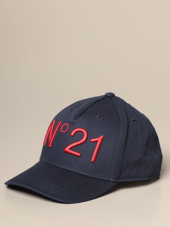 Cappello bambino N° 21: Cappello da baseball N°21 con logo blue 1
