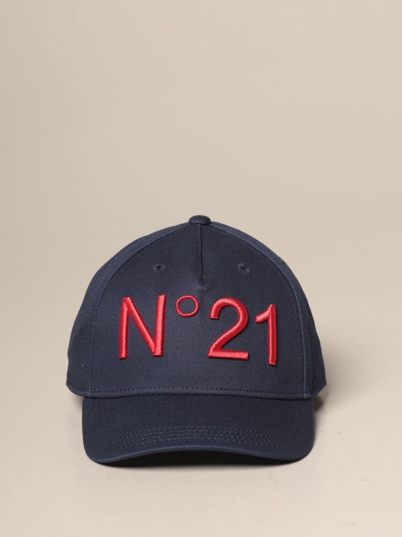 Cappello bambino N° 21: Cappello da baseball N°21 con logo blue 2