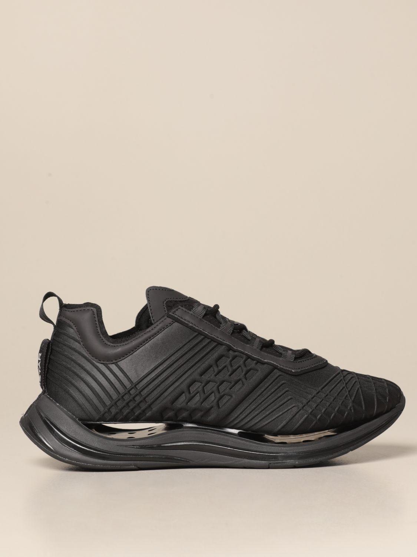Sneakers Arkistar: Sneakers Arkistar in tessuto tecnico con effetto geometrico sovrapposto nero 1