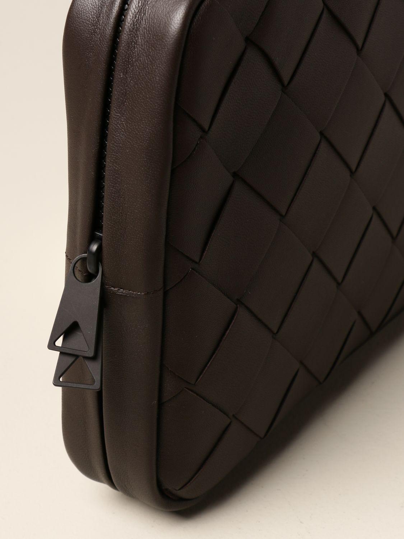 Portafoglio Bottega Veneta: Pochette Bottega Veneta in pelle intrecciata 3.0 moro 3