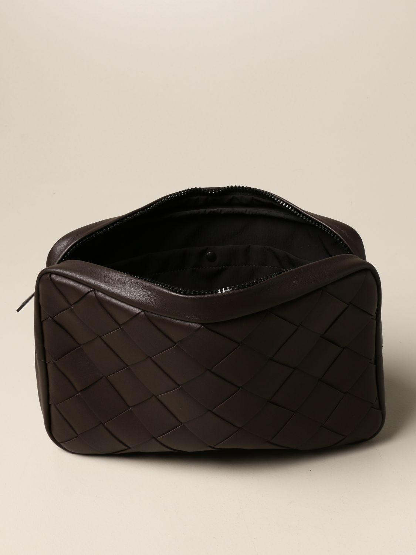 Portafoglio Bottega Veneta: Pochette Bottega Veneta in pelle intrecciata 3.0 moro 4