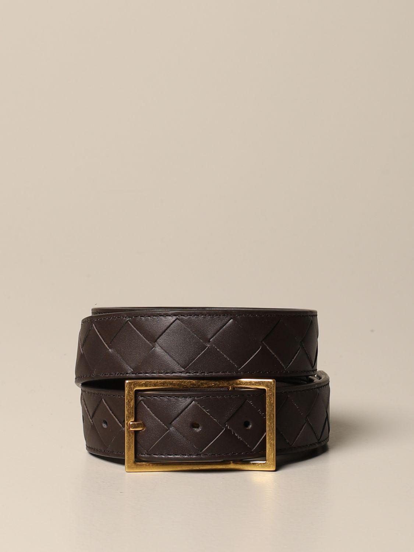 Belt Bottega Veneta: Bottega Veneta belt in 1.5 woven leather dark 1