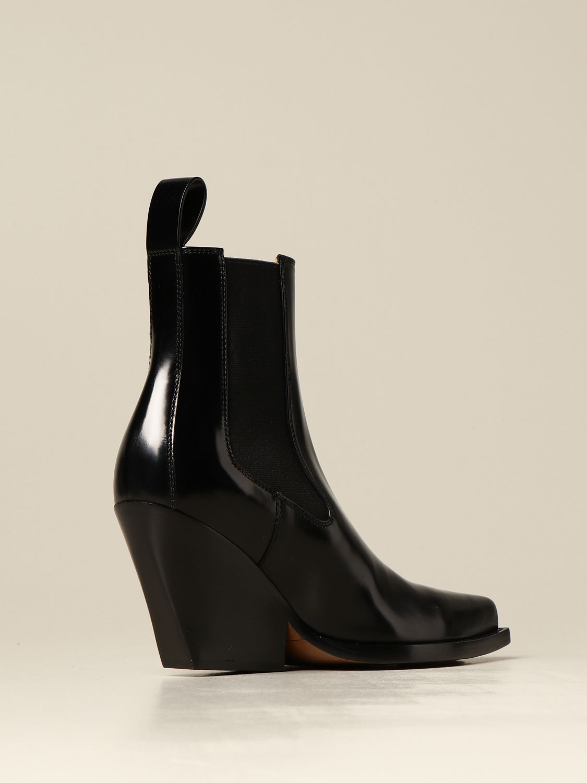 Flat booties Bottega Veneta: The Lean Bottega Veneta ankle boot in brushed leather black 3