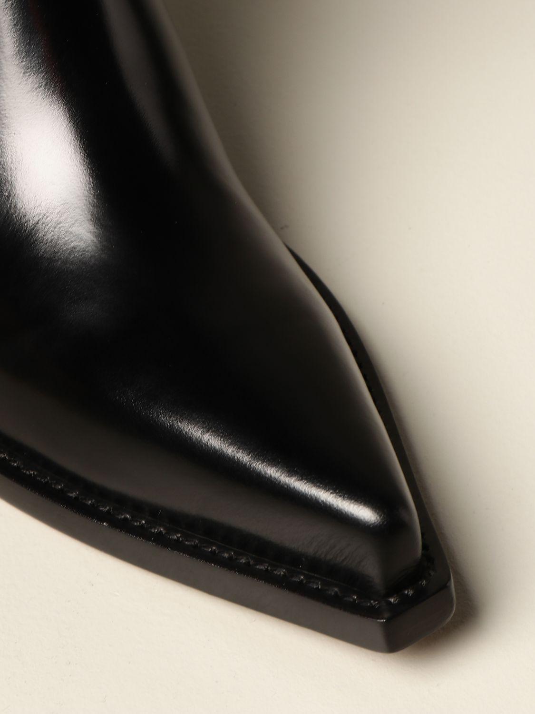 Flat booties Bottega Veneta: The Lean Bottega Veneta ankle boot in brushed leather black 4