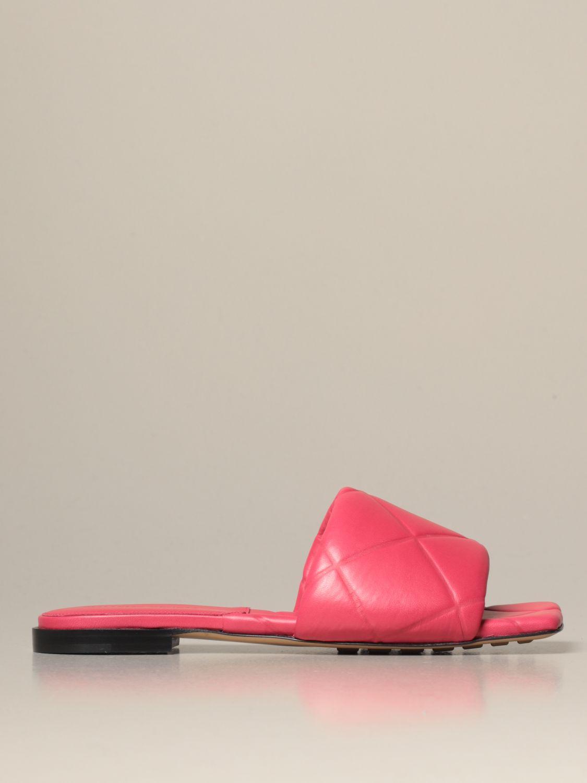 Flat sandals Bottega Veneta: Shoes women Bottega Veneta pink 1