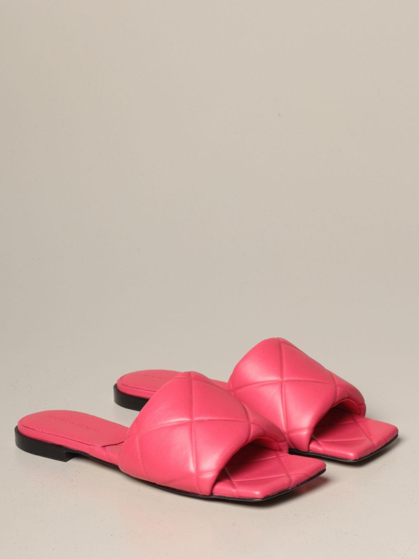 Flat sandals Bottega Veneta: Shoes women Bottega Veneta pink 2