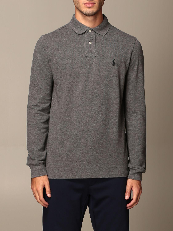 Polo Ralph Lauren Outlet Polo With Logo Polo Shirt Polo Ralph Lauren Men Grey Polo Shirt Polo Ralph Lauren 710680790 Giglio En