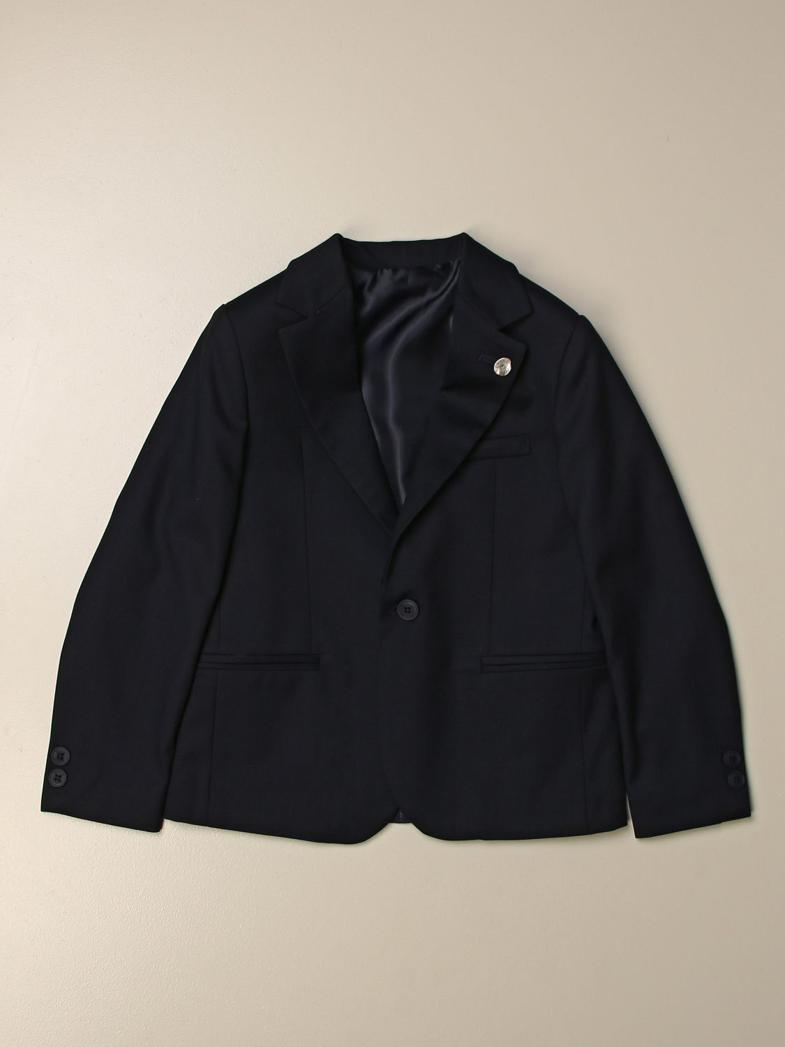 Blazer Siviglia: 2 pinstripe buttons on the back blue 1