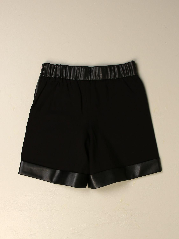 Pantaloncino Twin Set: Ecopelle bimateriale punto milano nero 2