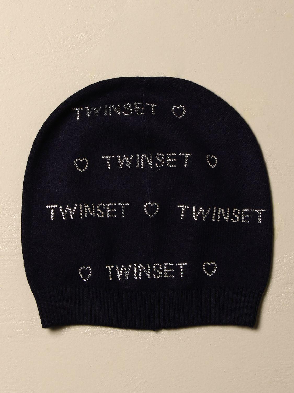 Шапка для девочек Twin Set: Шапка для девочек Детское Twin Set синий 2