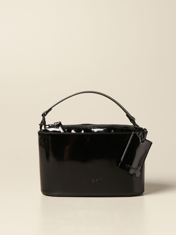 Сумка с короткими ручками Marsell: Наплечная сумка Женское Marsell черный 1