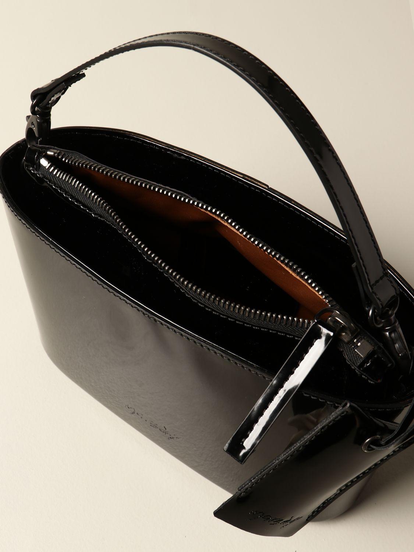Сумка с короткими ручками Marsell: Наплечная сумка Женское Marsell черный 4