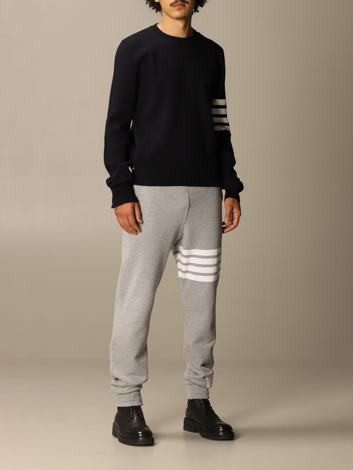 Sweater Thom Browne: Thom Browne pullover in merino wool with stripes navy 2