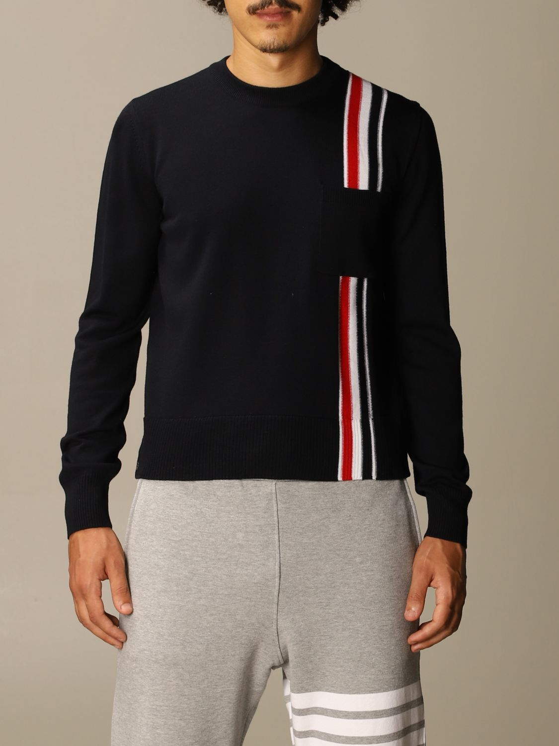 Jumper Thom Browne: Jumper men Thom Browne navy 1