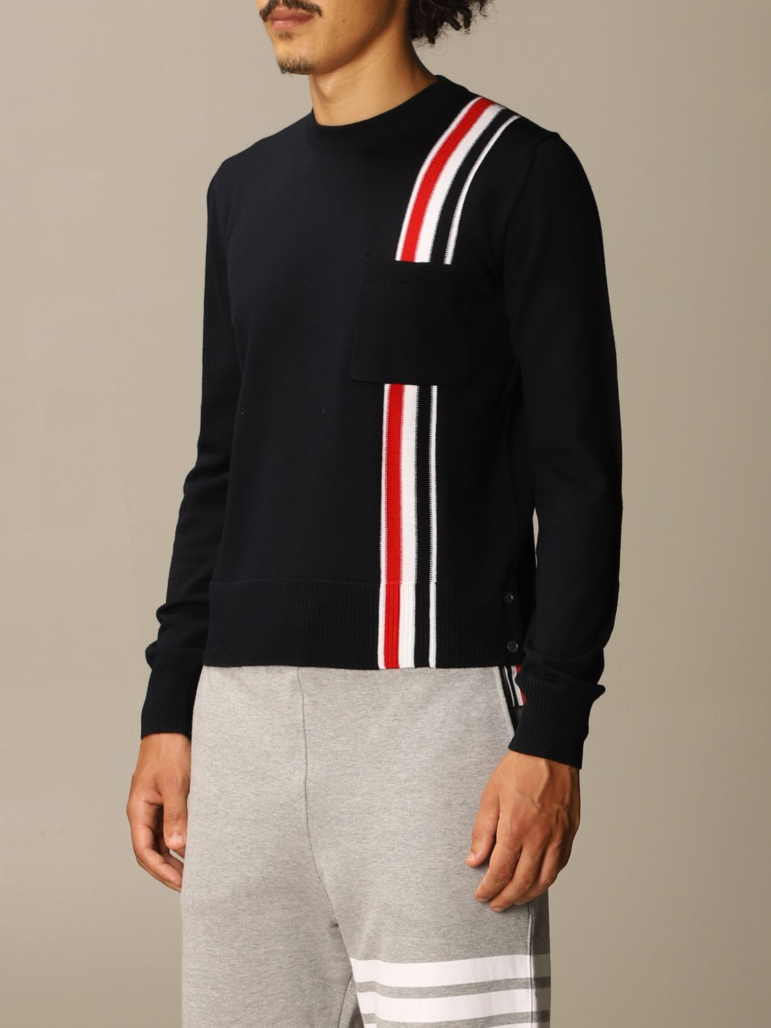 Jumper Thom Browne: Jumper men Thom Browne navy 3