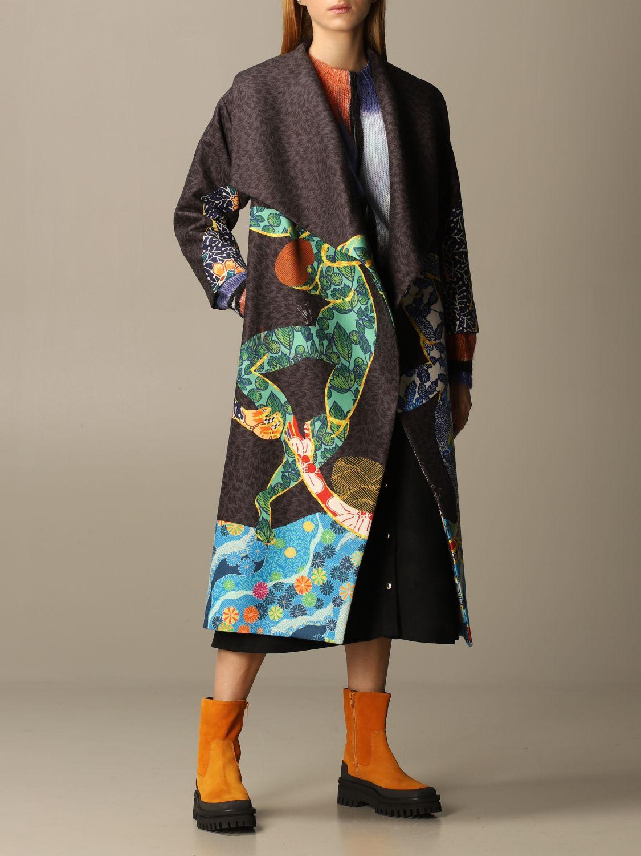 大衣 Stella Jean: 大衣 女士 Stella Jean 炭黑色 2