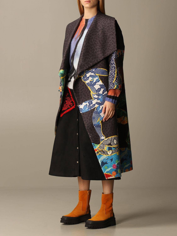大衣 Stella Jean: 大衣 女士 Stella Jean 炭黑色 4