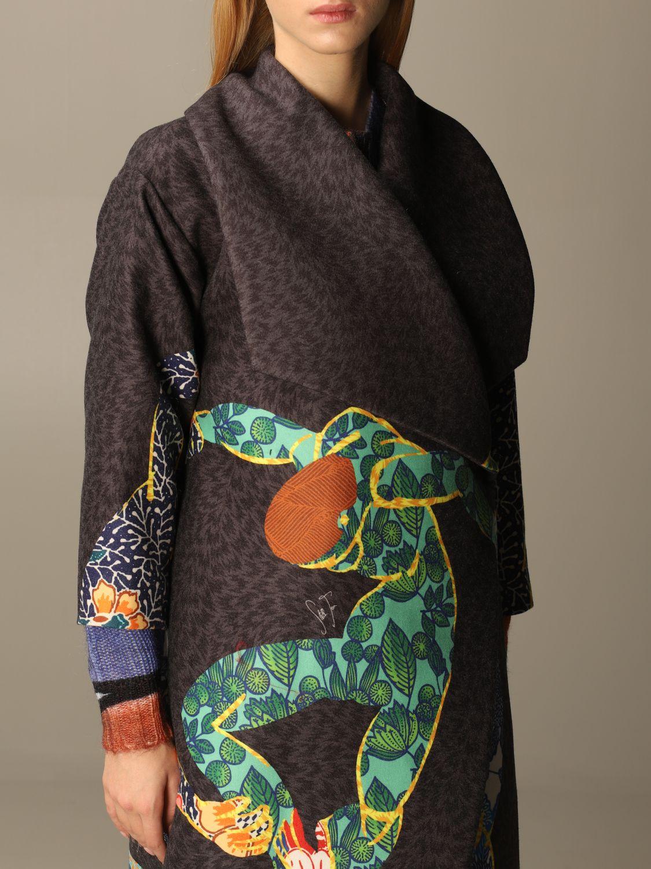 大衣 Stella Jean: 大衣 女士 Stella Jean 炭黑色 5