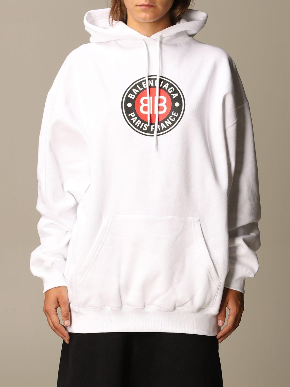 Sweatshirt Balenciaga: Sweatshirt women Balenciaga white 1