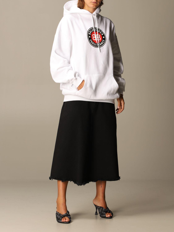 Sweatshirt Balenciaga: Sweatshirt women Balenciaga white 2