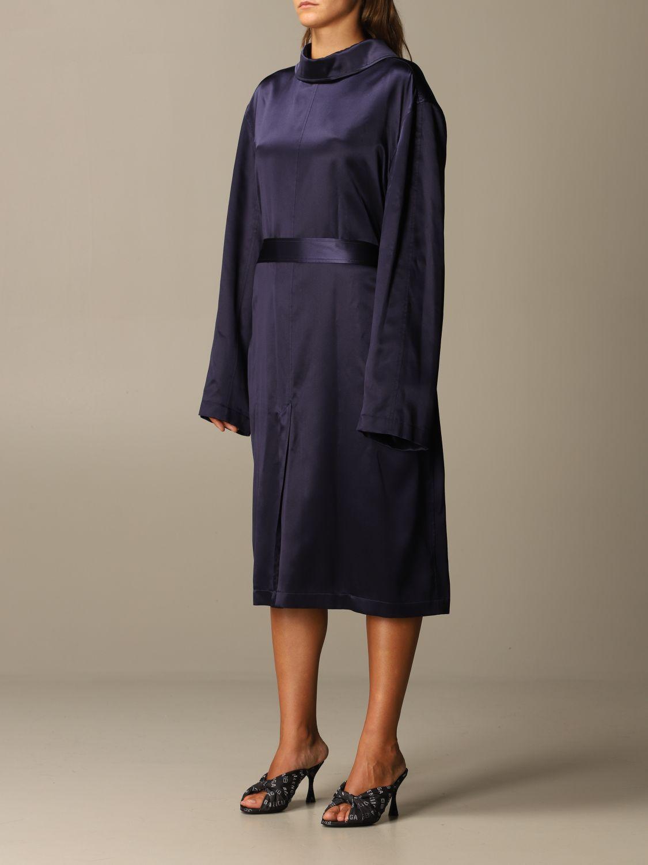 Kleid Balenciaga: Kleid damen Balenciaga navy 3