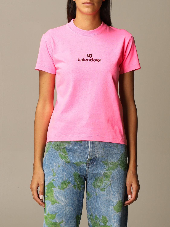 T-Shirt Balenciaga: T-shirt women Balenciaga pink 1